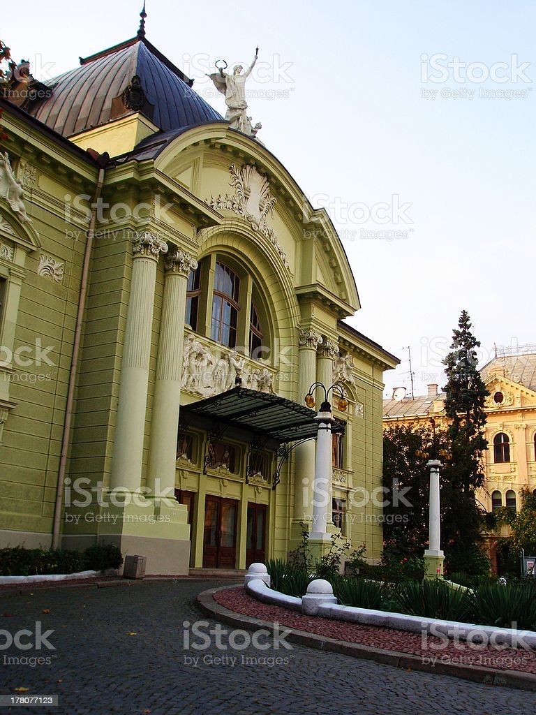 Chernivtsi Academy Theater building royalty-free stock photo