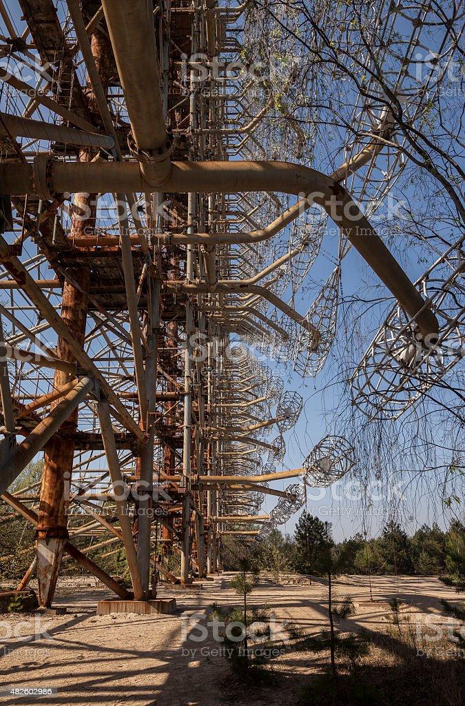 Chernobyl: Duga old soviet radar system stock photo