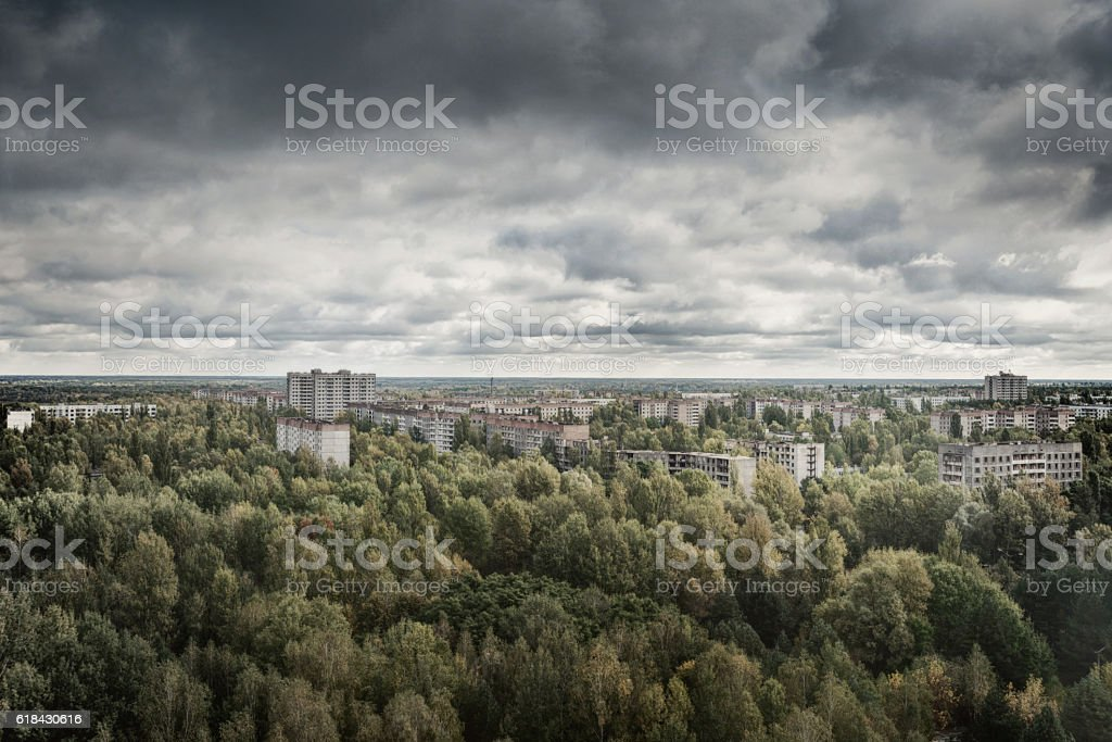 Chernobyl Exclusion Zone - Ghost Town Pripyat stock photo