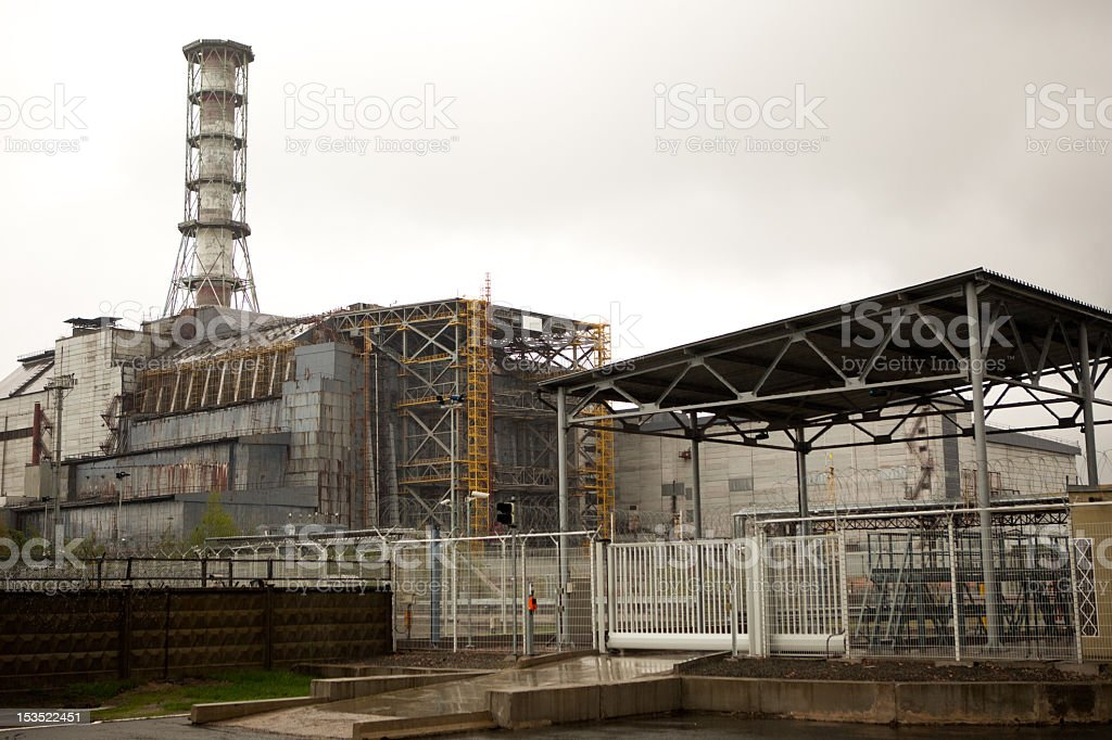 A Chernobyl nuclear power plant abandoned stock photo