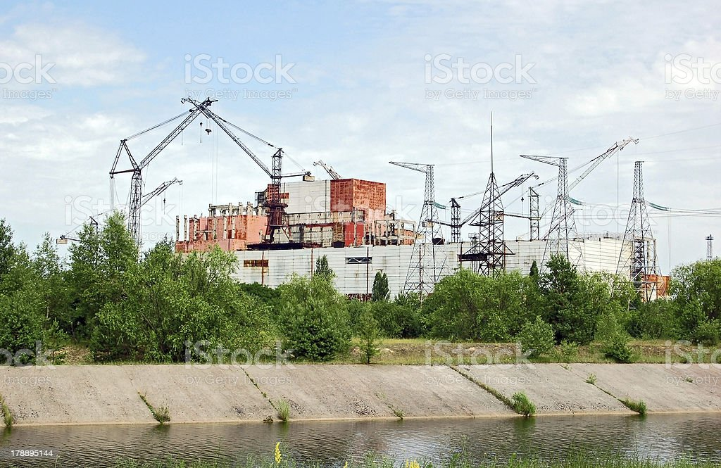 Chernobyl nuclear power station, abandoned  reactor 5-6 royalty-free stock photo