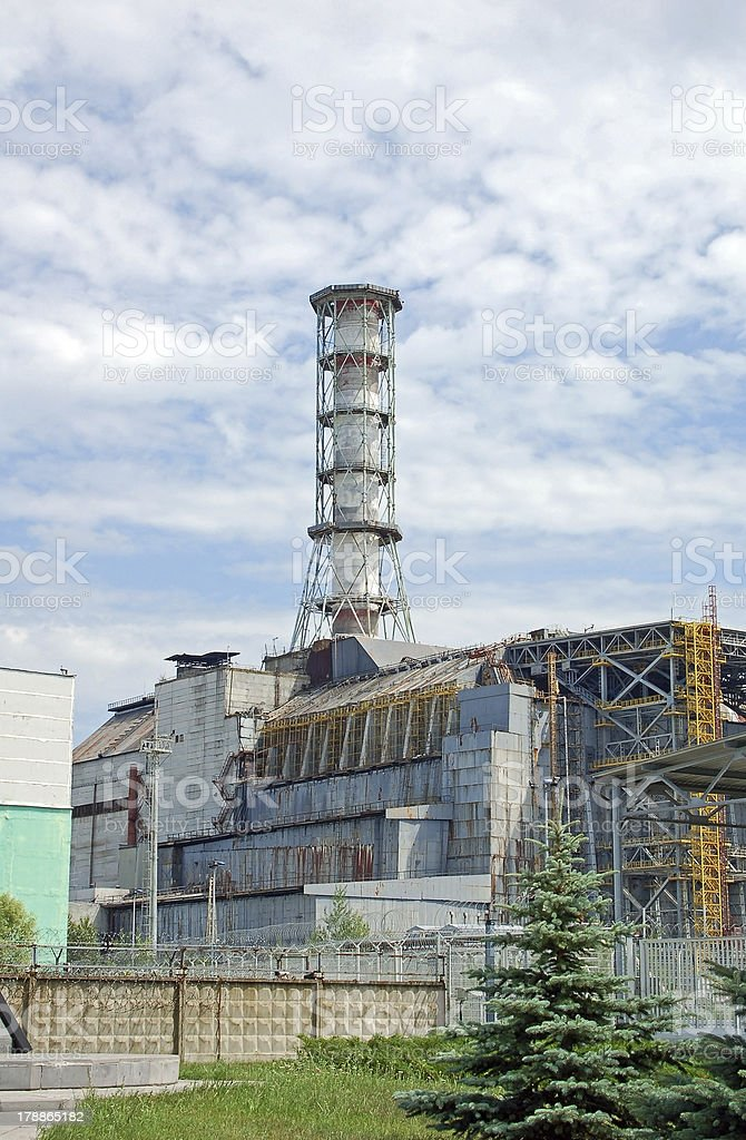 Chernobyl nuclear power station royalty-free stock photo