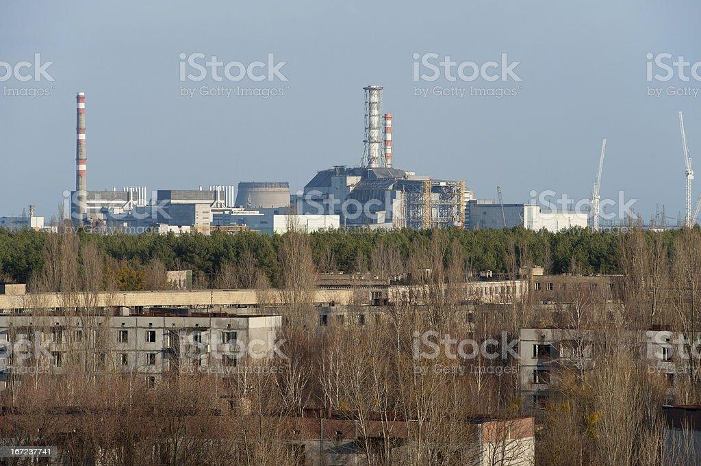 Chernobyl sarcophagus royalty-free stock photo