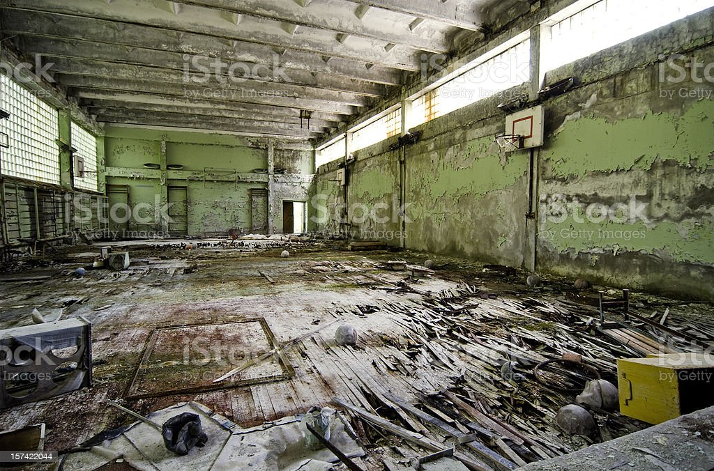 Chernobyl school after disaster. royalty-free stock photo