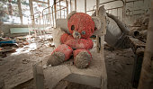 Chernobyl - Teddy bear in abandoned kindergarten