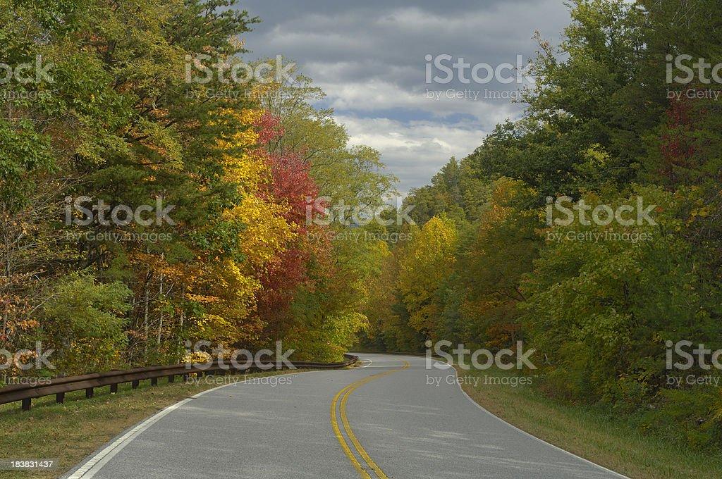 Cherohala Skyway in North Carolina USA during autumn. royalty-free stock photo