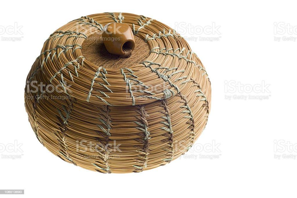 Cherokee handwoven basket royalty-free stock photo