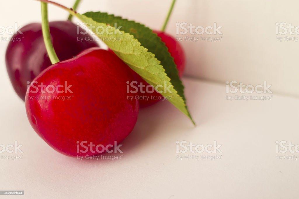 Cherries close up. royalty-free stock photo