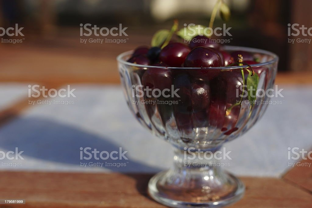 Cherries in the Bowl. royalty-free stock photo
