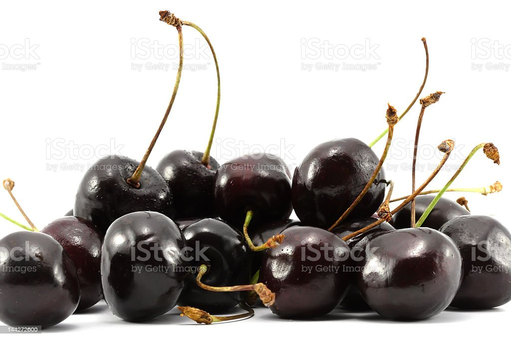 Cherries isolated on white stock photo