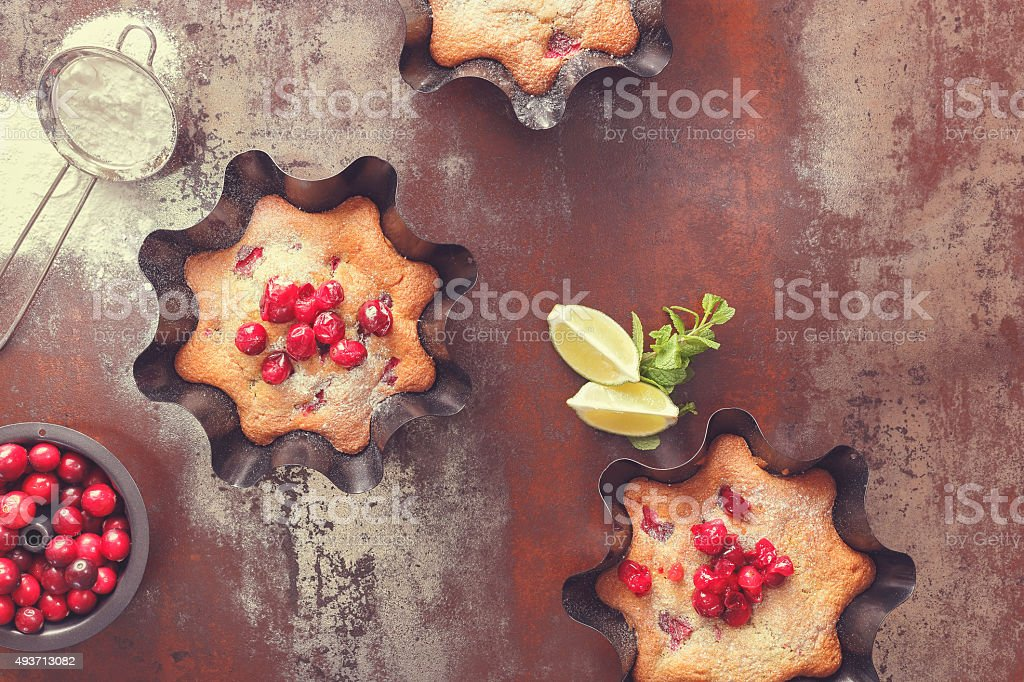 Cherry and Cranberry Tart stock photo