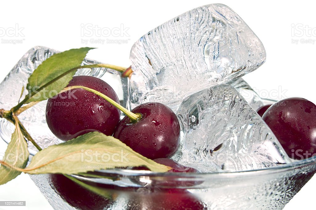 Cherry and ice royalty-free stock photo