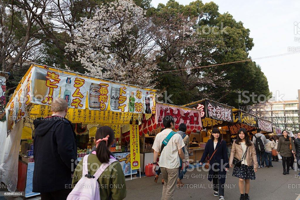 Cherry Blossom Season in Tokyo, Japan stock photo
