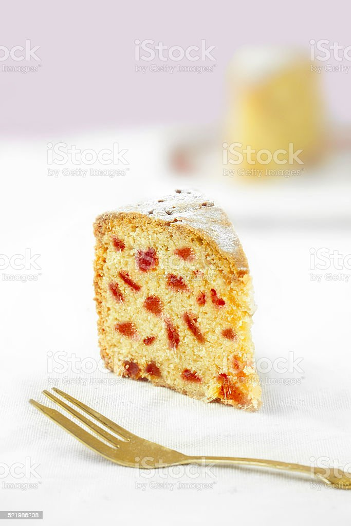 Cherry cake stock photo