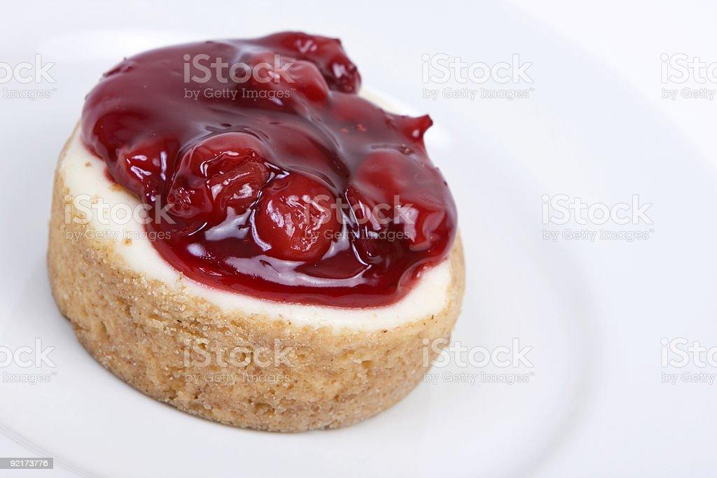 Cherry cheescake stock photo