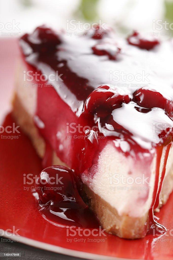 cherry cheesecake royalty-free stock photo