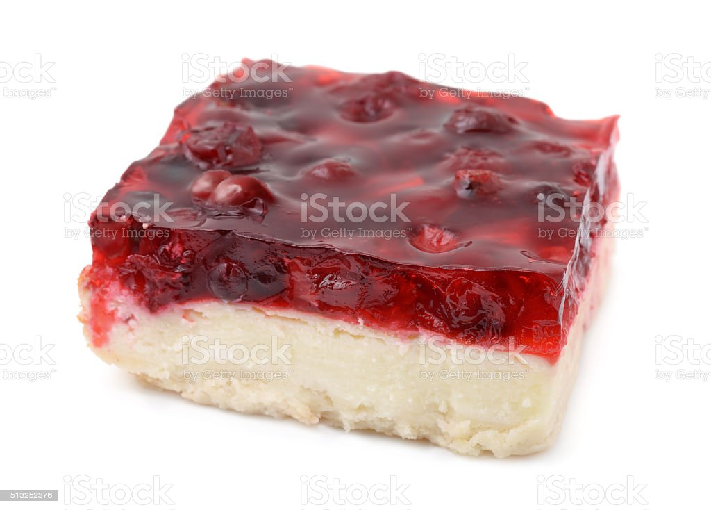 Cherry cheesecake stock photo