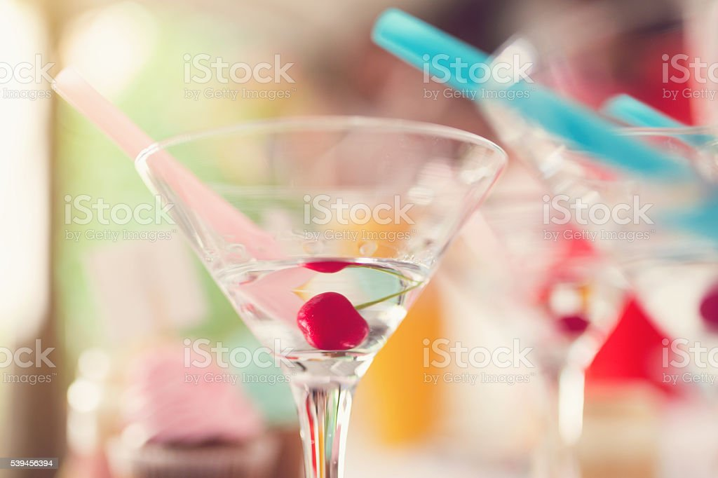 Cherry Cocktail stock photo