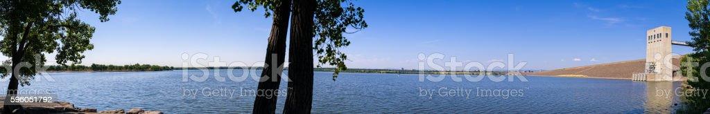 Cherry Creek Reservoir Denver Colorado stock photo