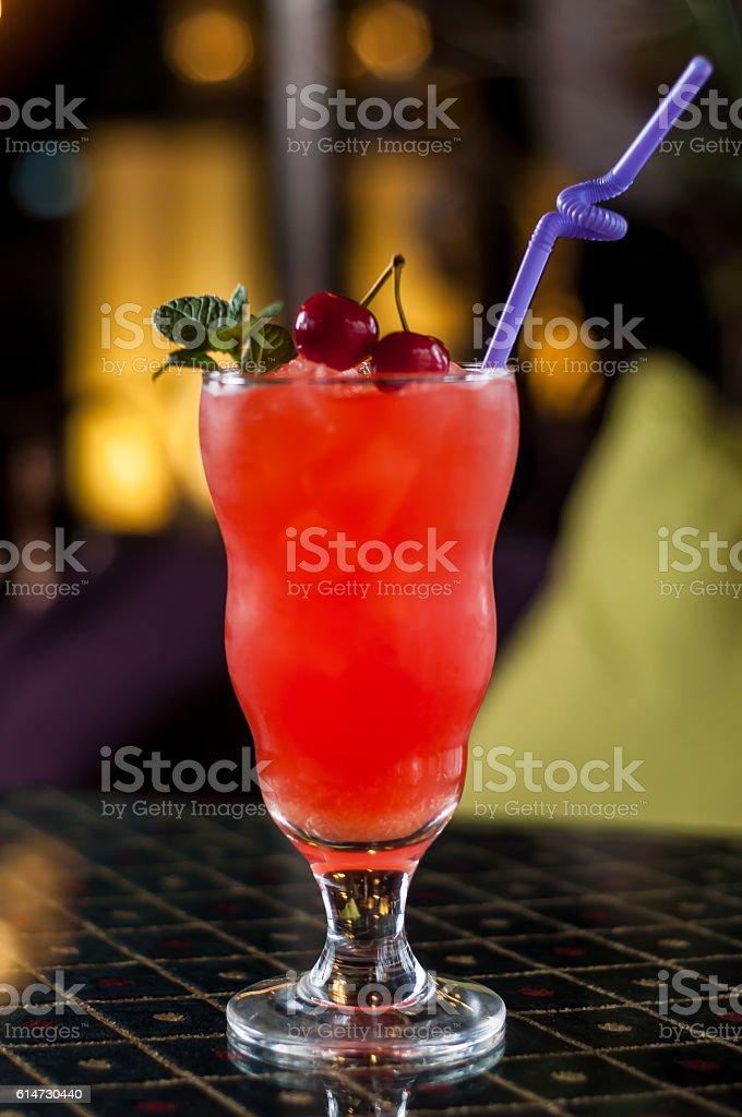 Cherry drink stock photo