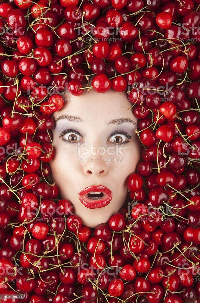 Cherry Girl royalty-free stock photo