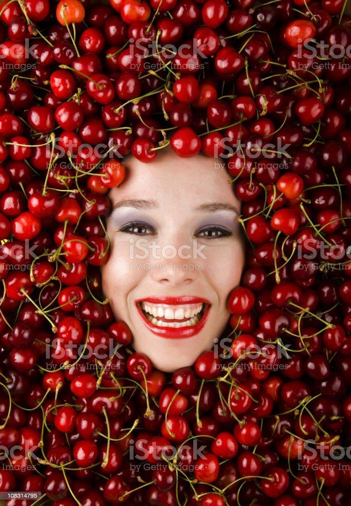 Cherry Girl stock photo