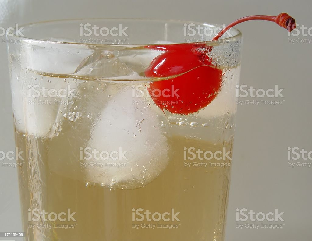 Cherry in Ginger Ale royalty-free stock photo