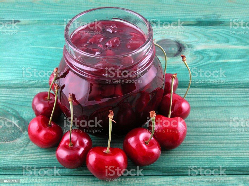 cherry jam royalty-free stock photo