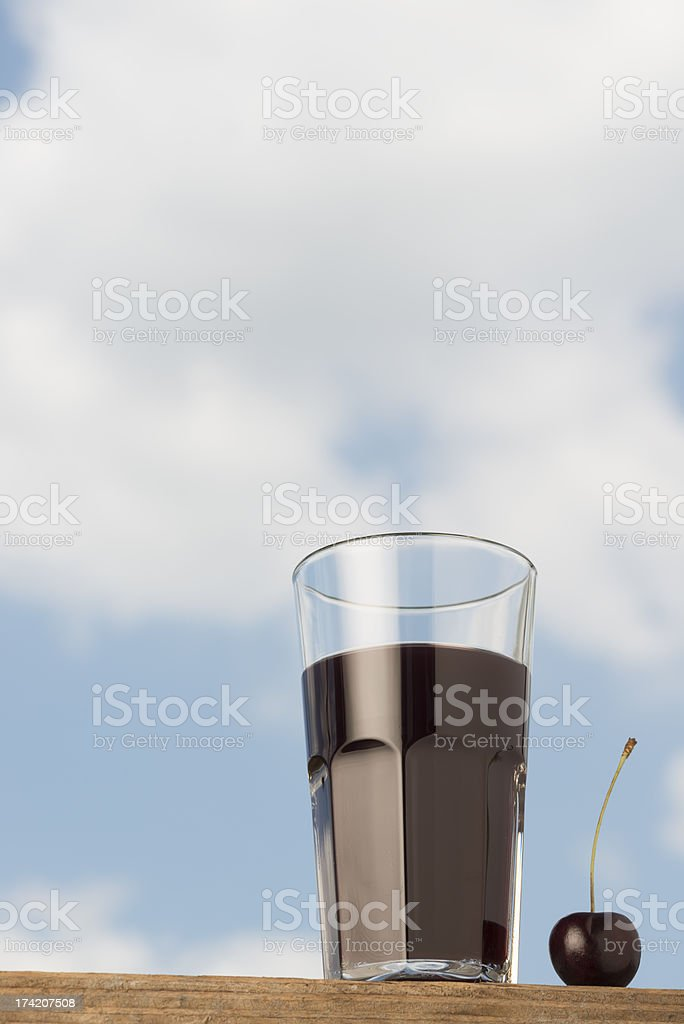 Cherry juice Kirschsaft royalty-free stock photo