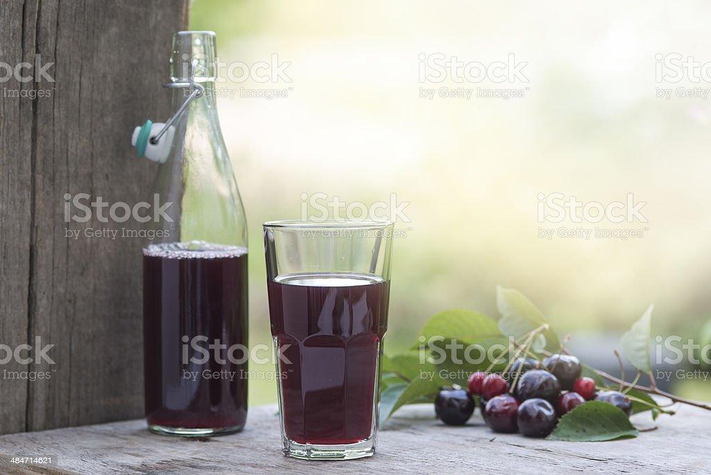 Cherry juice Kirschsaft royalty-free stock photo