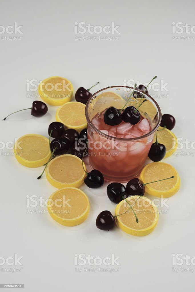 Cherry Lemonade royalty-free stock photo