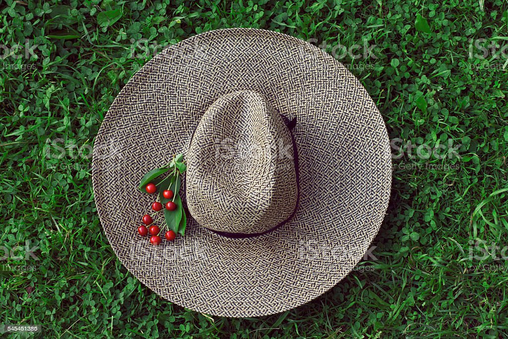 Cherry on the hat stock photo