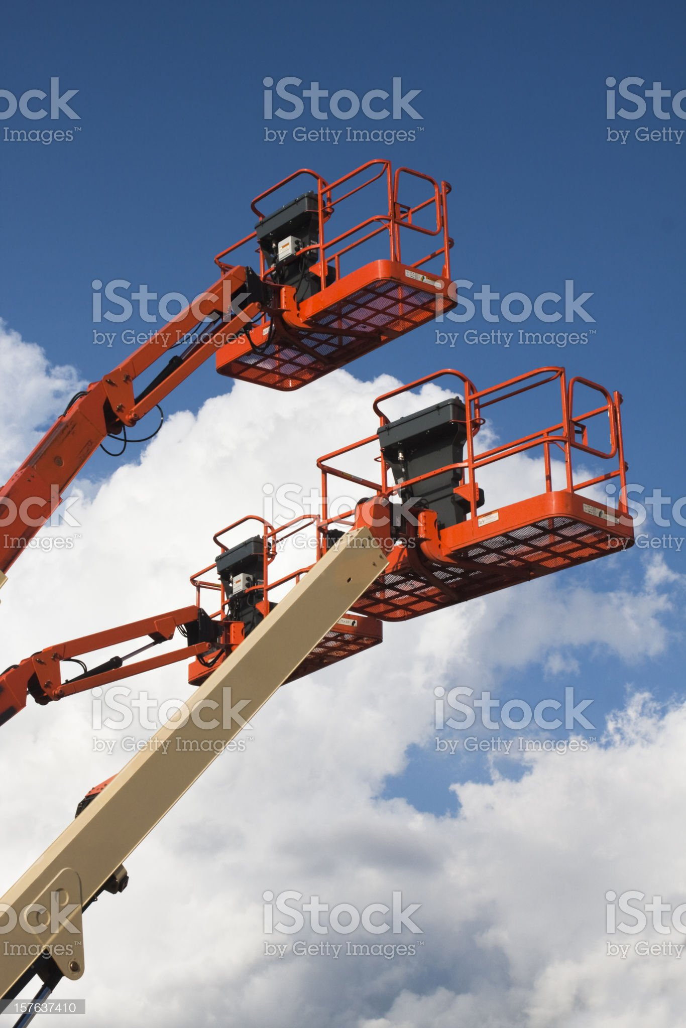 Cherry Picker Lifts Cropped royalty-free stock photo