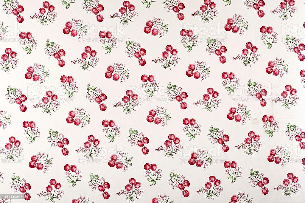 Cherry Pie Medium Antique Floral Fabric stock photo