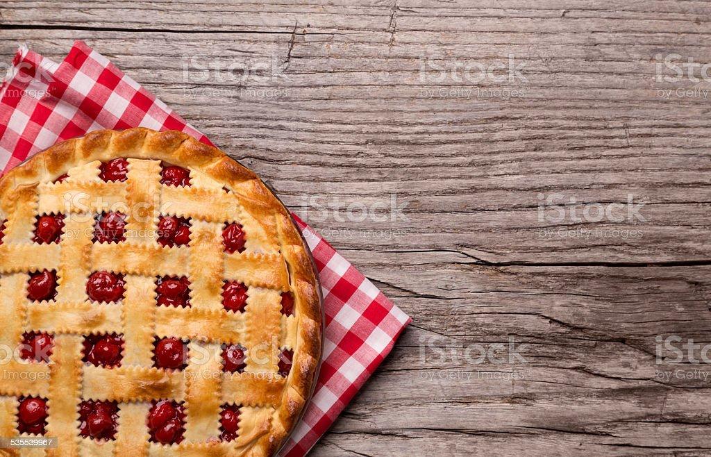 Cherry Pie stock photo