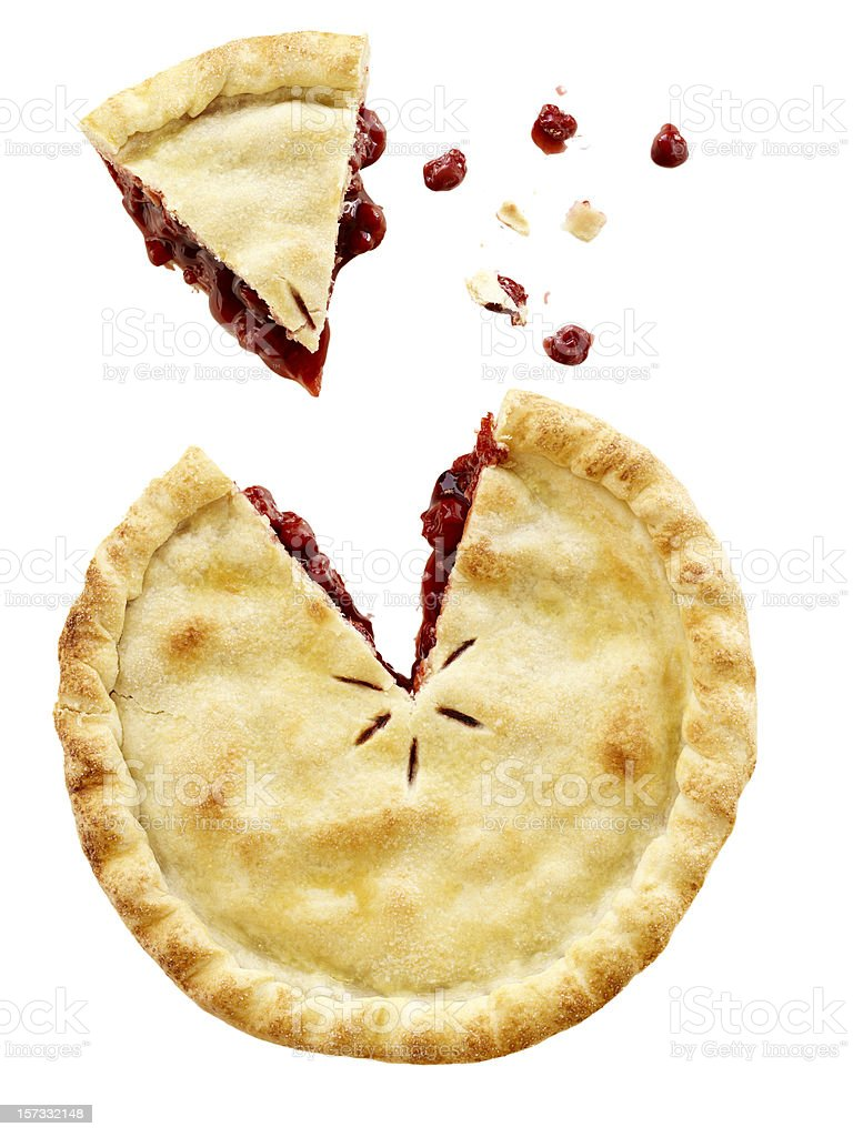 Cherry Pie Sliced stock photo