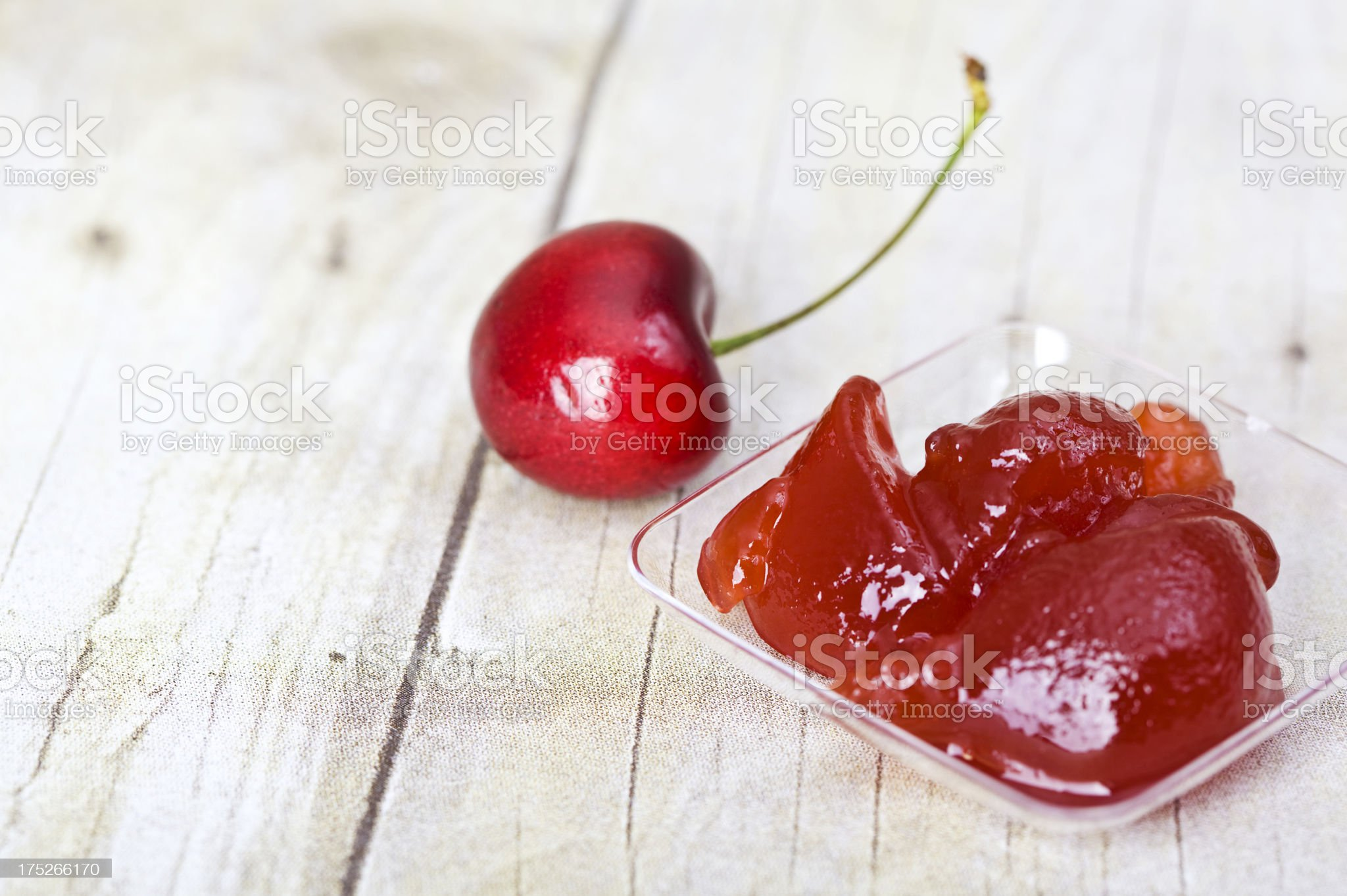 Cherry Preserves royalty-free stock photo