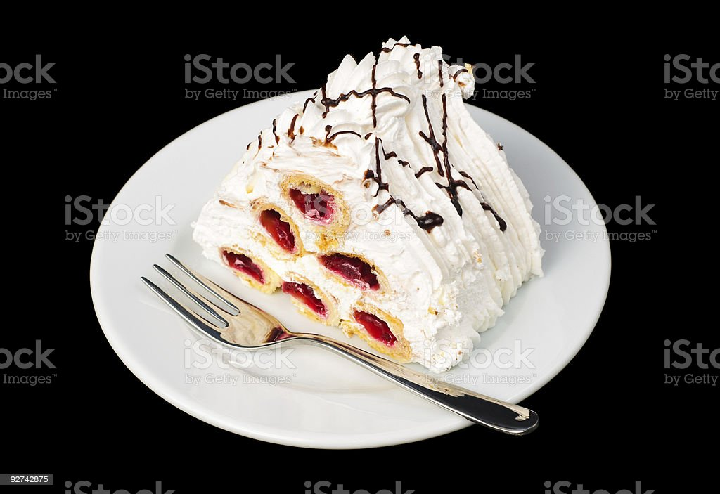 cherry pyramid tart royalty-free stock photo