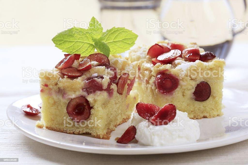 Вишнёвый Бисквитный торт Стоковые фото Стоковая фотография