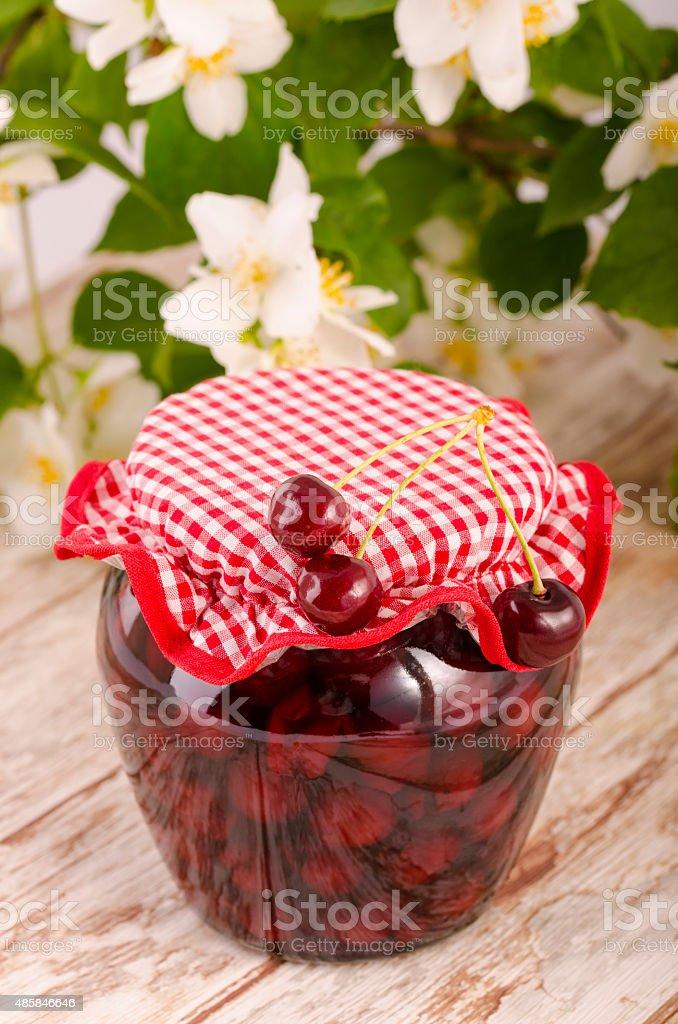 Cherry Compotas o frutas foto de stock libre de derechos