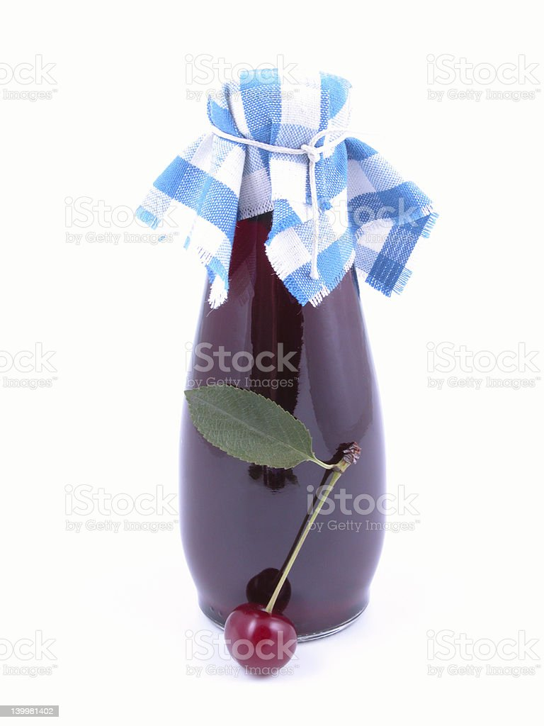 cherry syrup royalty-free stock photo