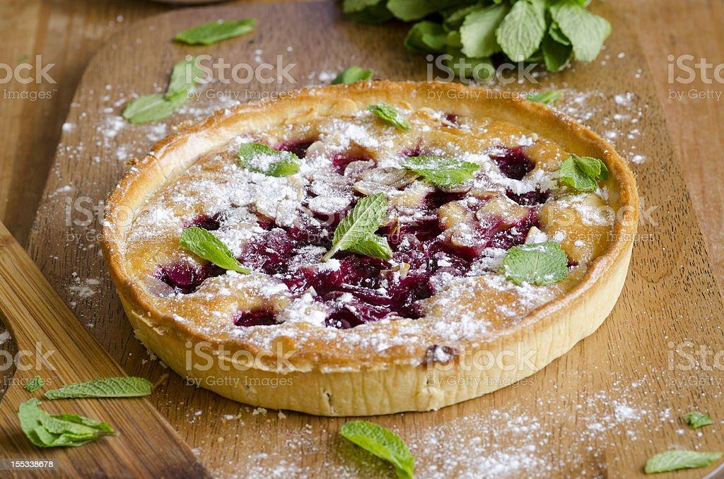 Cherry tart stock photo