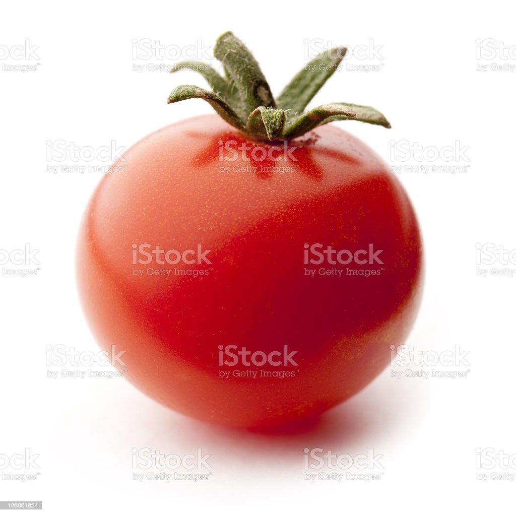 Cherry Tomato Isolated on White royalty-free stock photo