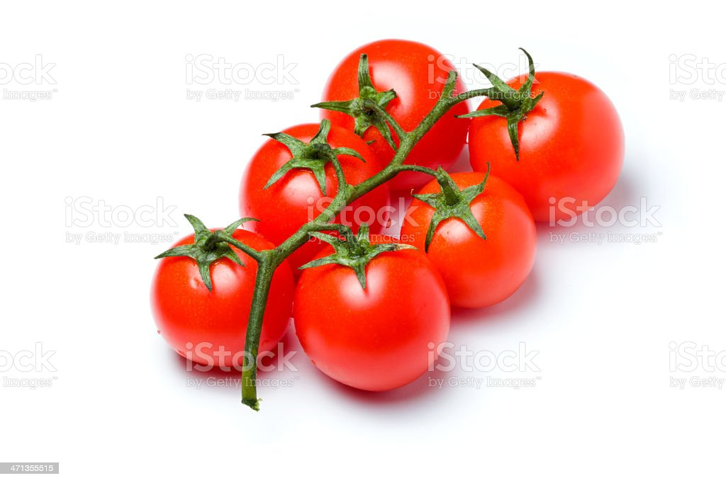 Cherry tomato on white royalty-free stock photo
