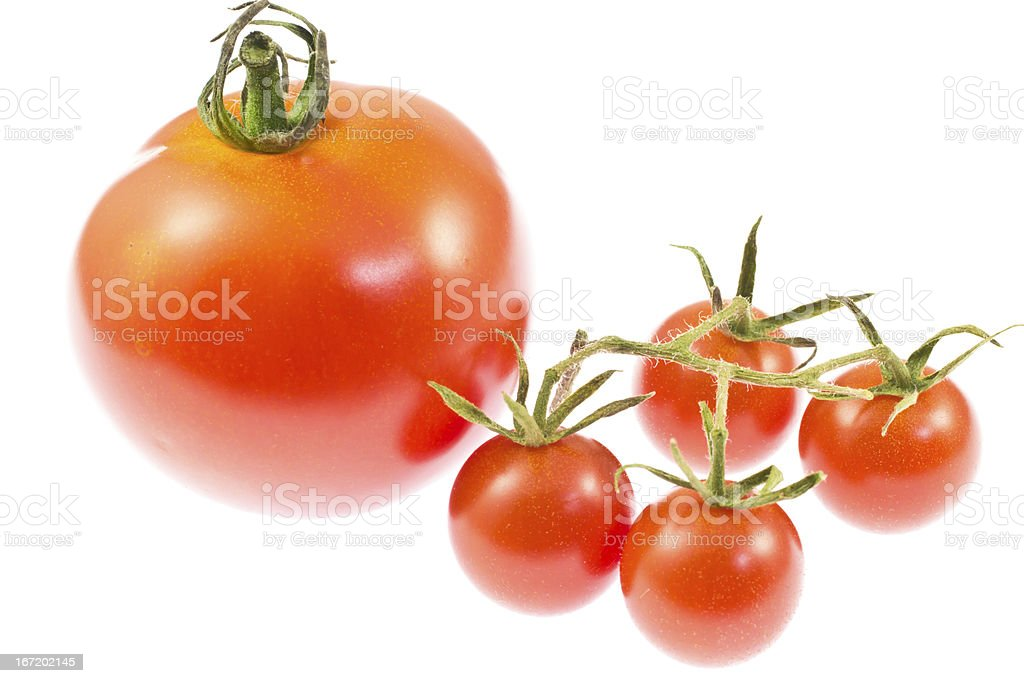Cherry tomatoes and a tomato royalty-free stock photo