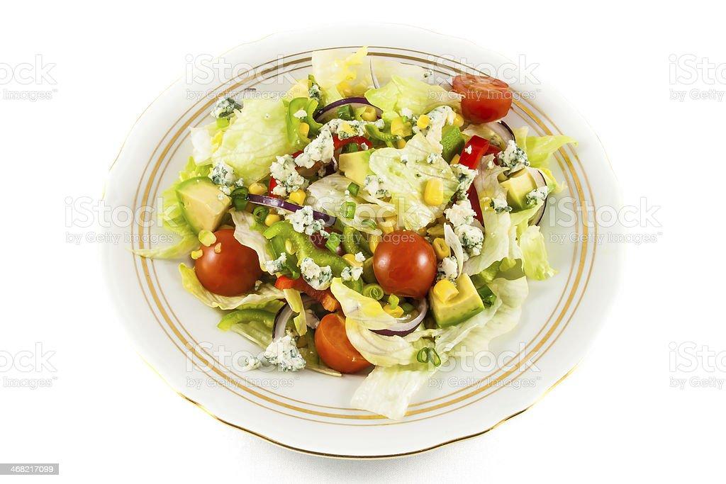 Cherry tomatoes and iceberg lettuce salad royalty-free stock photo