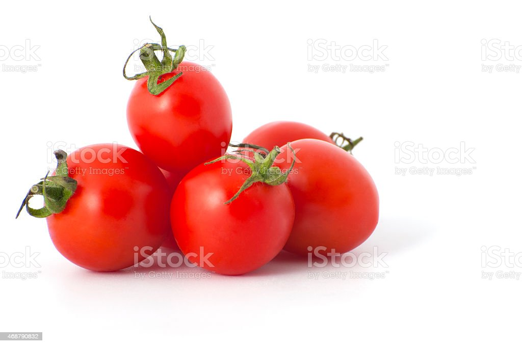 Cherry tomatoes close-up. stock photo