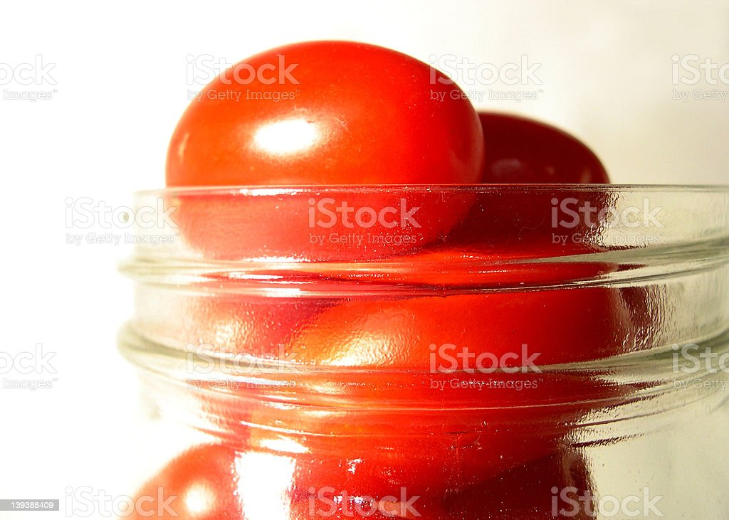 Cherry tomatoes in a jar royalty-free stock photo