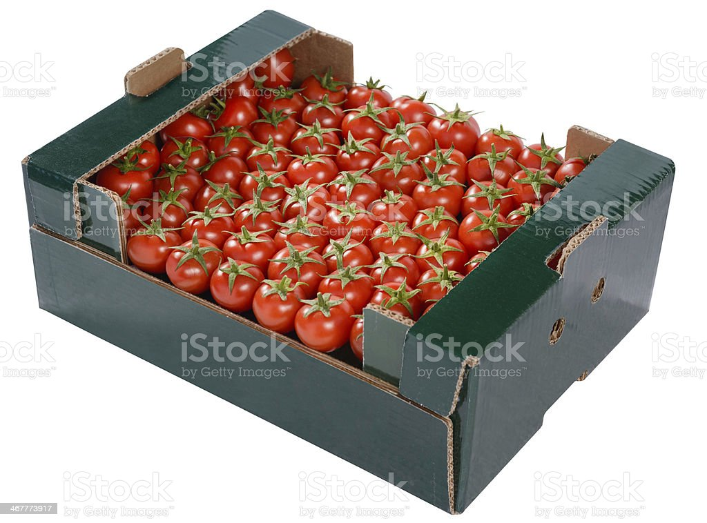 Cherry Tomatoes in Box royalty-free stock photo