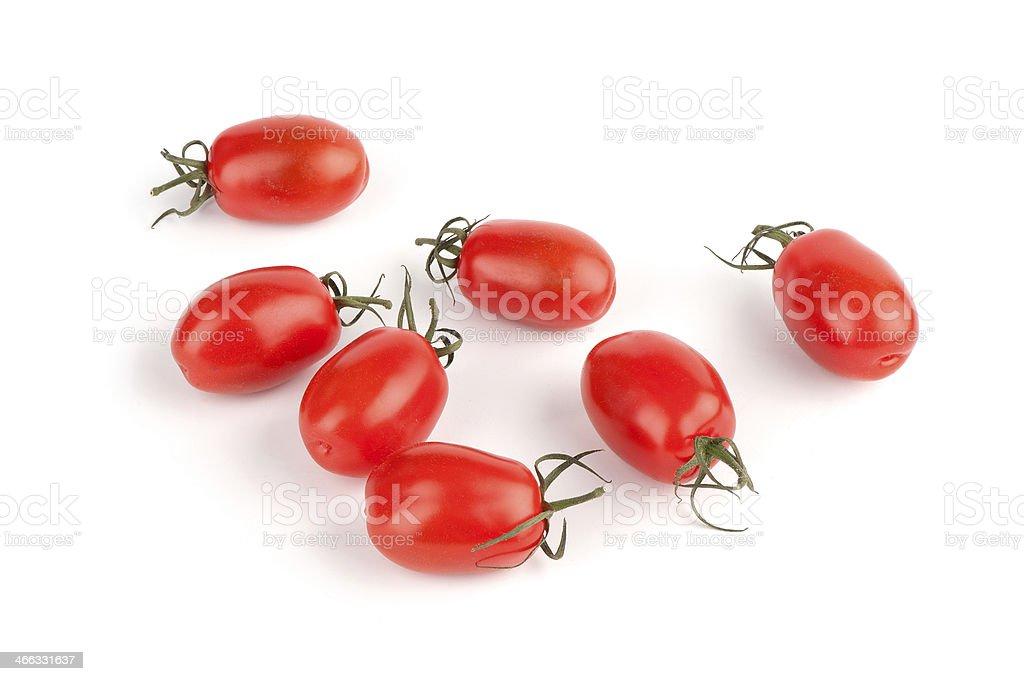 Cherry tomatoes isolated stock photo